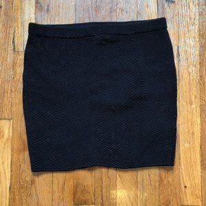 Rebecca Minkoff Black Textured Mini Skirt